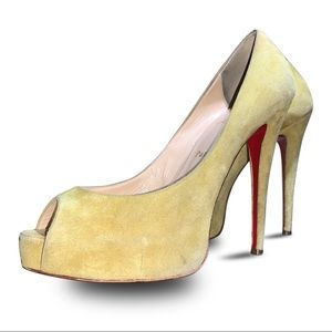🔥💥Christian Louboutin Yellow Suede Very Prive
